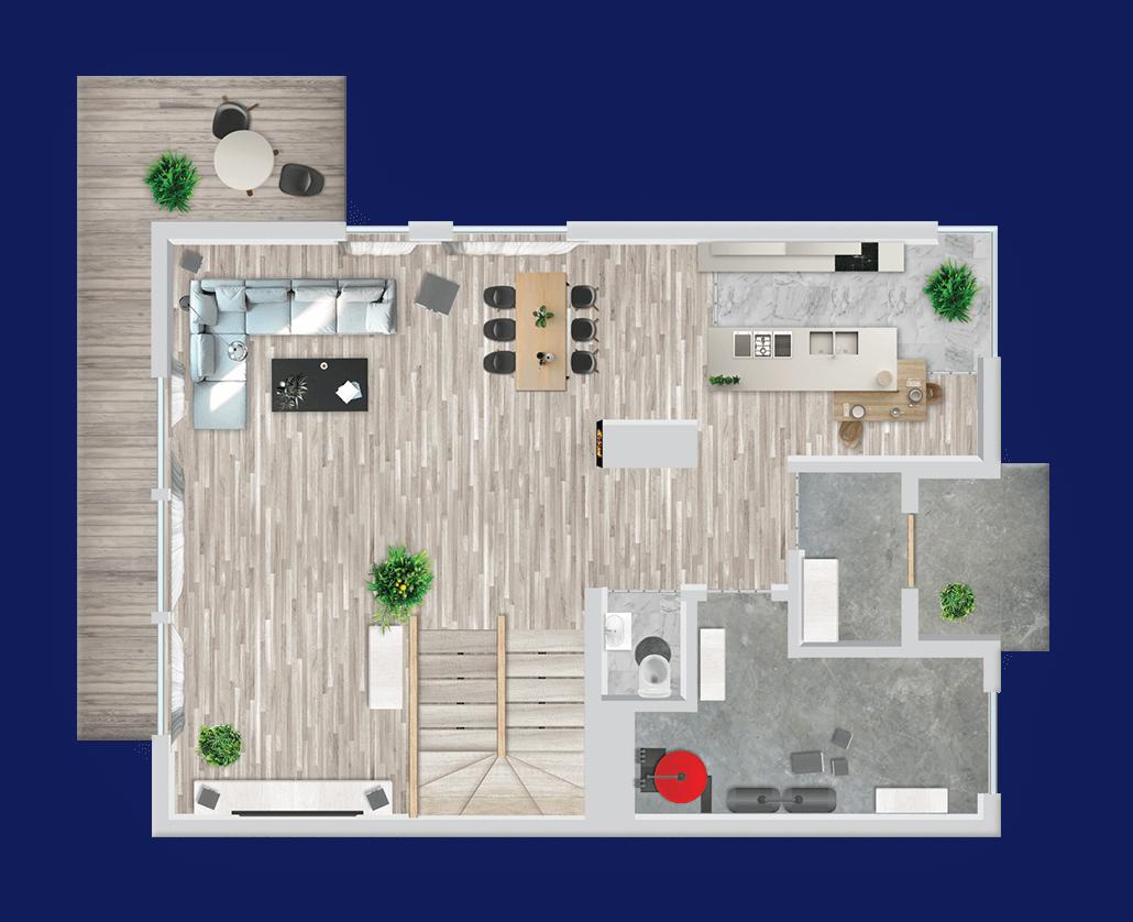 Wizualizacja rzutów pomieszczeń