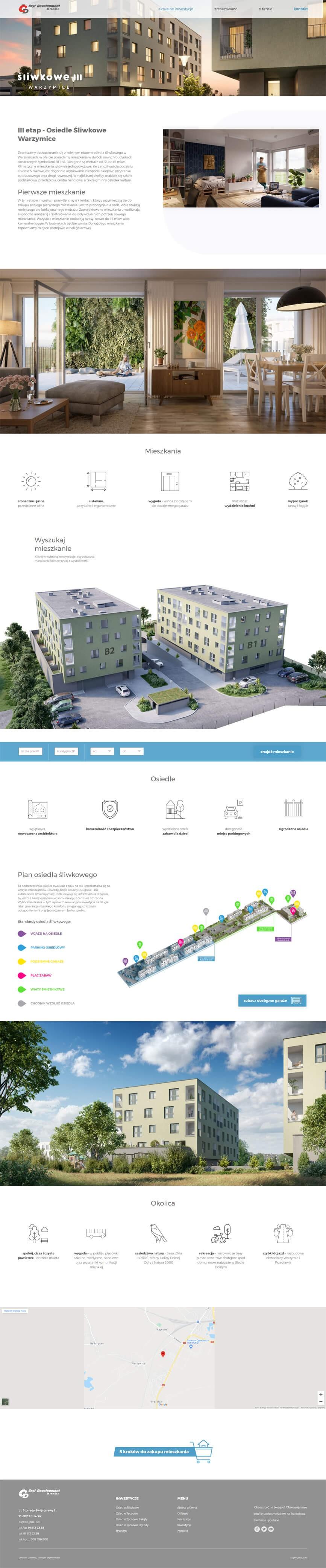 Strona główna Gryf Development na tablecie